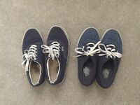 Two blue womens Vans size 6/5.5