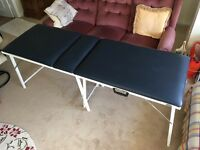 Physio / massage treatment table (blue)
