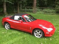 Mazda MX-5 Convertible roadster 2005. Full MOT. Lovely car and great fun to drive. £2500 ONO