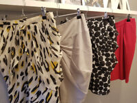 Lovely womens skirts in excellent condition size 10, 4 for £6