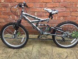 "Boys Magna Rampage bike, 20"" wheels, 5-speed gear, excellent condition!"
