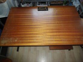 heavy duty solid wood computer desk