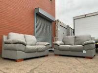 Grey leather sofas delivery 🚚 sofa suite couch furniture