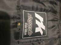 Rk sports black leather motercycle jacket