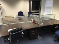 Office Furniture: 18 Desks, 18 Chairs & 18 Pedestals plus Meeting table & Electrical Extensions