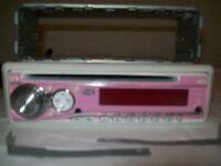 Pink JVC Car Radio/CD Player
