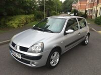 RENAULT CLIO 1.2 PETROL,10 MONTHS MOT,FULL SERVICE HISTORY,LOW MILEAGE.