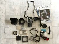 Hasselblad 500C/M Medium Format Film Camera With Carl Zeiss Lens And Accessories