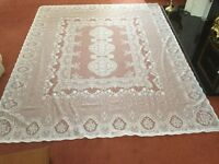 "Beautiful White Lace Tablecloth - Never Been Used - 87"" (221cm) x 69"" (175cm) approximately"