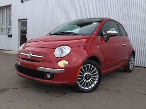 2012 Fiat 500 Lounge, LEATHER, SUNROOF.