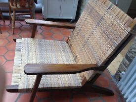 TEAK WOOD RATTON CHAIR
