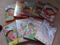 Nine Dora the explorer DVDs