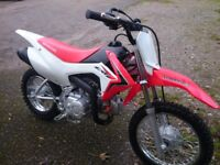 Honda CRF110F Childs Motocross Bike.