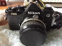 Nikon FM2 35mm camera +2 telescopic lenses