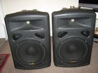 A pair of studiomaster vpx10 active speakers