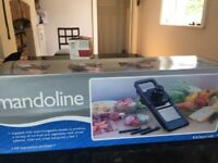 Kitchencraft Mandoline, boxed and as new- with 3 interchangeable blades and stand and guard