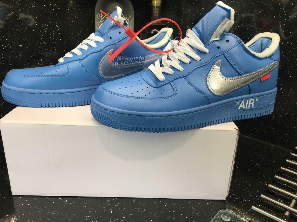 Off White Nike X Air Force One MCA University Blue Yeezy | in Coalville, Leicestershire | Gumtree