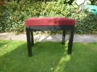 Beautiful Red Velvet and Black wood Adjustable Piano/Music stool