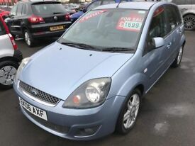JUST REDUCED 06 REG FORD FIESTA 1.4 GHIA DIESEL ONLY £30 TAX ONLY £1499
