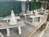 🌞 Concrete / Stone Garden Bench ~ New