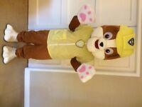 UK SELLER new adult look alike Rubble Mascot Costume fancy dress Dog Dress