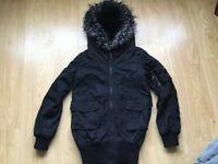 💕 Ladies Black River island Coat Size 6 💕