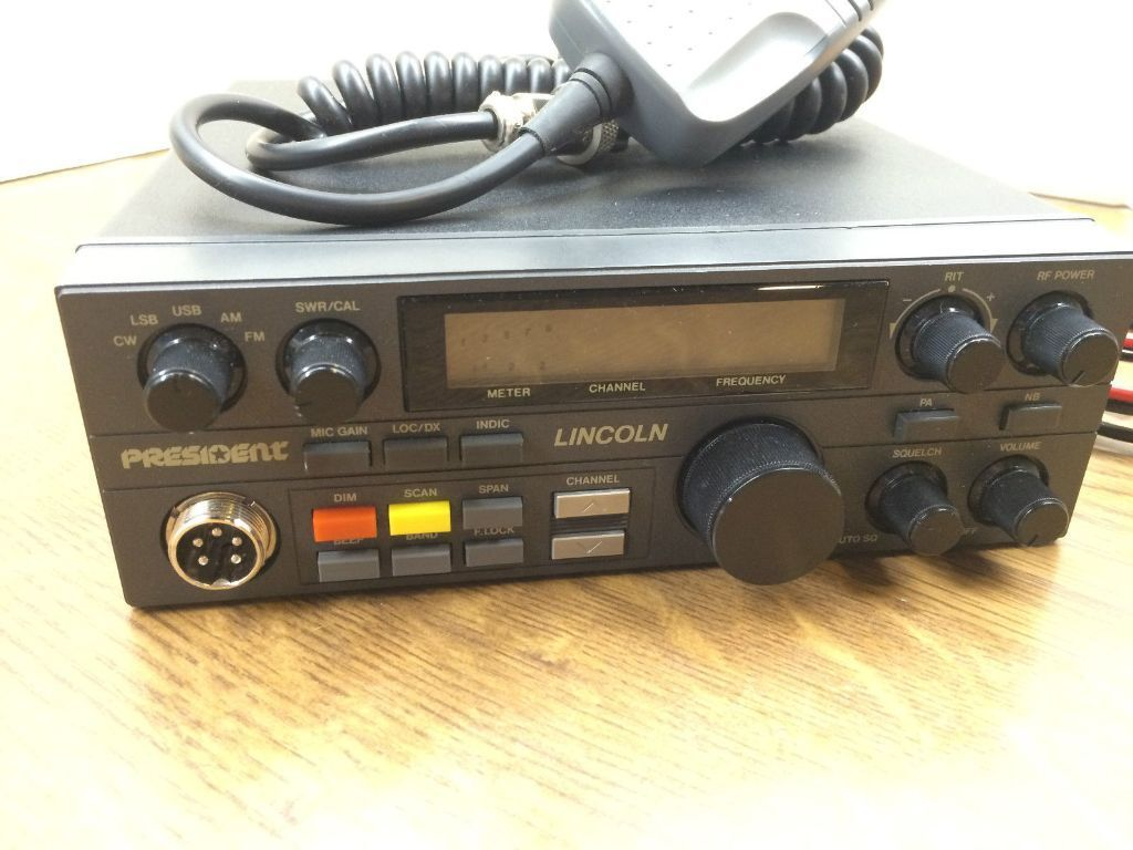 Original President Lincoln Cb Radio Mobile 200ch 4 Band 28