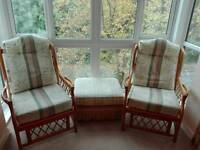 Conservatory wicker chairs