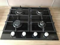 Cooke and Lewis black gloss gas hob