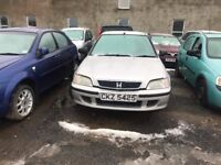 1999 HONDA CIVIC 1.4 PETROL BREAKING FOR PARTS ONLY POSTAGE AVAILABLE NATIONWIDE