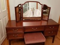 G Plan Retro 1980's, light mahogany dressing table - lovely condition - and G Plan stool