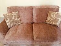 2+2 Brown Sofas