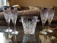 Royal Doulton ice bucket and champagne flutes