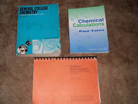 3 Chemistry Books Qualitative Organic Analysis/Chemical Calculations/General College Chemistry Pb