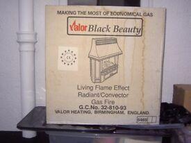 Valor Black Beauty Radiant/Convector Gas Fire Model 465