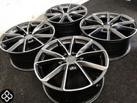 "BRAND NEW 18"" AUDI RS3/4 STYLE ALLOY WHEELS - ALSO AVAILABLE WITH TYRES - 5 x 112"