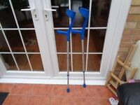 Lightweight crutches in good condition