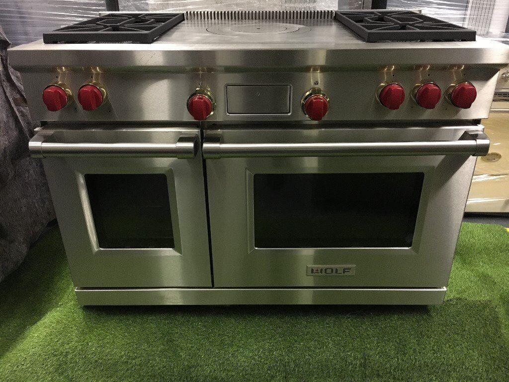Stunning 48 inch Wolf range cooker Double Oven Sub zero appliance INC VAT