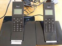 Twin house phone sleek and modern