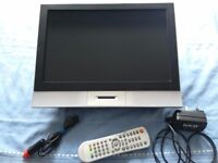 15 inch LCD Caravan / Motor Home TV. 12 volts and mains with quick release mounting bracket.