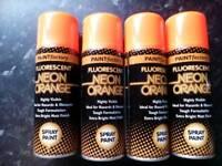 Orange spray cans