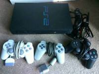 PS2 console and loads of games