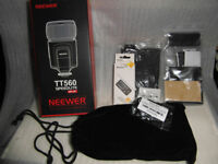 neewer tt560 speedlite flash+softbox diffuser+camera remote+12colour flash diff kit+lens cap holder