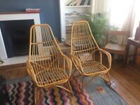 Beautiful 2 wicker chairs great condition