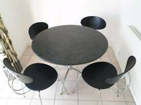 Modern table and chairs