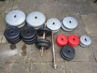 Plastic weight plates