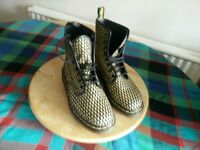 Dr Marten originals gold glitter boots sz 5