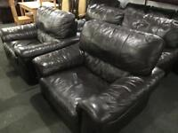 As new top grade leather 2 11 sofa set