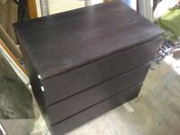 Chest of Drawers in Black