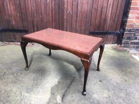 Marble mahogany coffee table